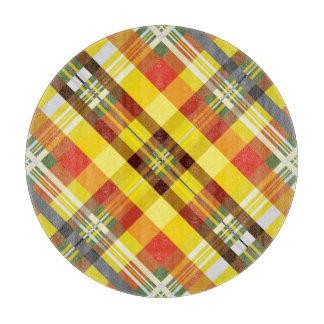 Plaid / Tartan - 'Sunflower' Cutting Board