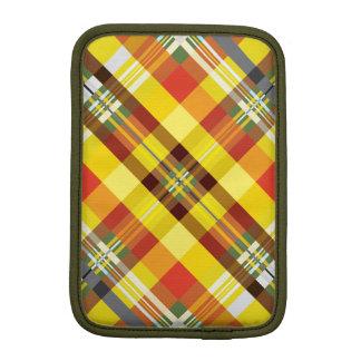 Plaid / Tartan - 'Sunflower' iPad Mini Sleeve