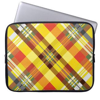 Plaid / Tartan - 'Sunflower' Laptop Sleeve