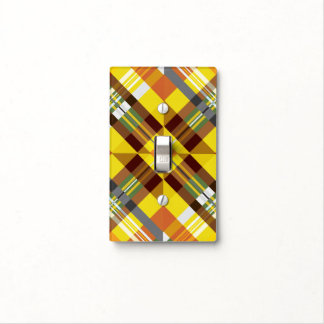 Plaid / Tartan - 'Sunflower' Light Switch Cover