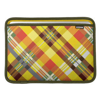 Plaid / Tartan - 'Sunflower' MacBook Sleeve
