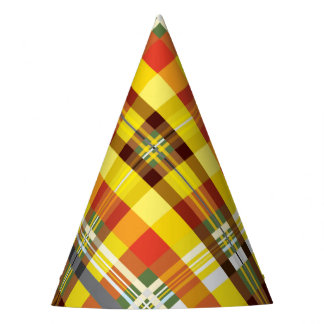 Plaid / Tartan - 'Sunflower' Party Hat