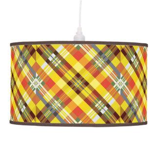 Plaid / Tartan - 'Sunflower' Pendant Lamp