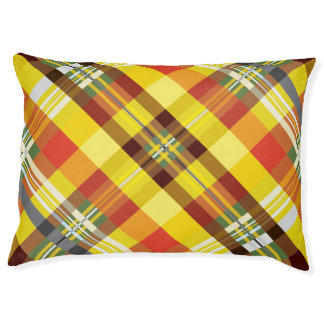 Plaid / Tartan - 'Sunflower' Pet Bed