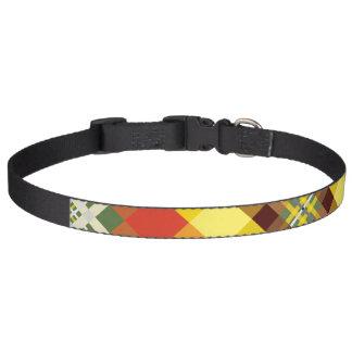 Plaid / Tartan - 'Sunflower' Pet Collar