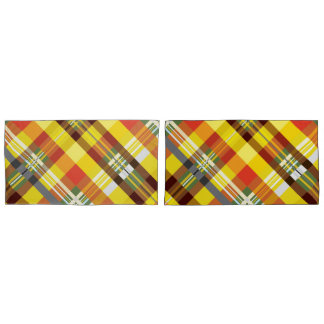 Plaid / Tartan - 'Sunflower' Pillowcase