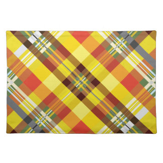 Plaid / Tartan - 'Sunflower' Placemat