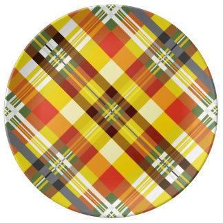 Plaid / Tartan - 'Sunflower' Plate