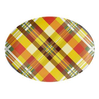 Plaid / Tartan - 'Sunflower' Porcelain Serving Platter