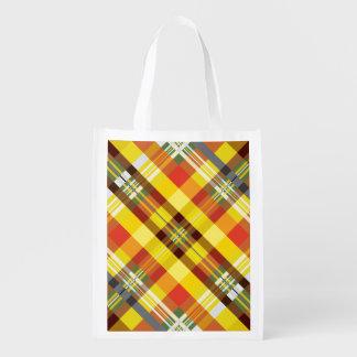 Plaid / Tartan - 'Sunflower' Reusable Grocery Bag