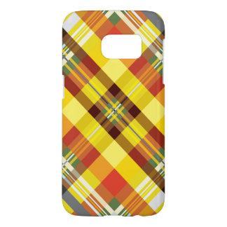Plaid / Tartan - 'Sunflower' Samsung Galaxy S7 Case