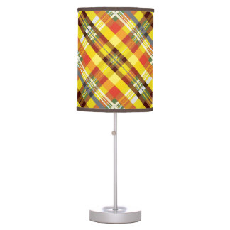 Plaid / Tartan - 'Sunflower' Table Lamp