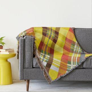 Plaid / Tartan - 'Sunflower' Throw Blanket