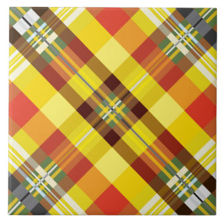 Plaid / Tartan - 'Sunflower' Tile