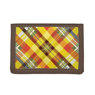 Plaid / Tartan - 'Sunflower' Trifold Wallet