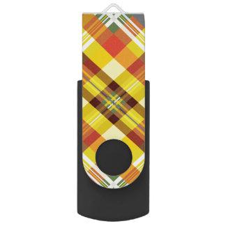 Plaid / Tartan - 'Sunflower' USB Flash Drive