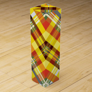 Plaid / Tartan - Sunflower Wine Gift Box