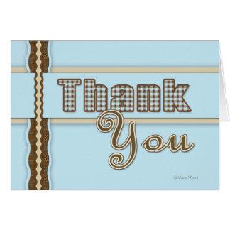 Plaid Thank You Card