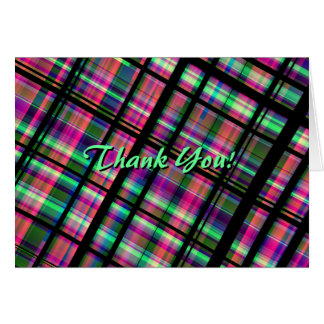 """Plaid """"Thank You!"""" Note Cards"""