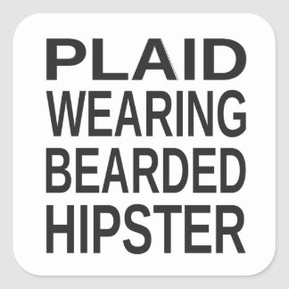 Plaid Wearing Bearded Hipster Sticker