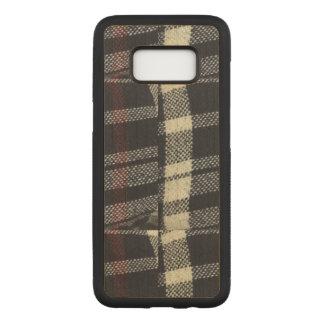 Plaided Fabric Samsung Galaxy S8 Wood Case