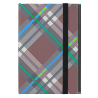 Plaids, Checks, Tartans Brown and Turquoise Covers For iPad Mini