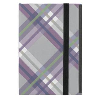 Plaids, Checks, Tartans Grey Green Lavender Cases For iPad Mini