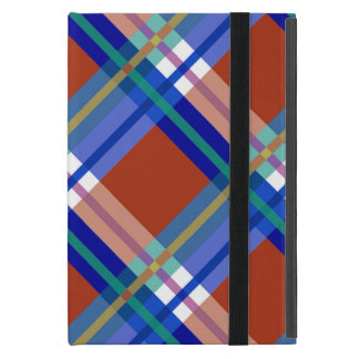 Plaids, Checks, Tartans Red and Blue Cover For iPad Mini