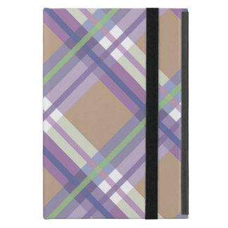 Plaids, Checks, Tartans Sand Lavender and Mint iPad Mini Covers
