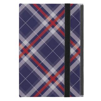 Plaids, Checks, Tartans White Red Blue iPad Mini Cover