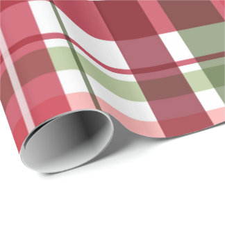 Plaids Of Christmas Wrapping Paper