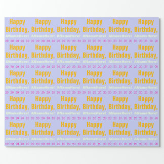 Plain 20th Birthday Wrapping Paper