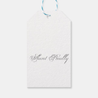 Plain 3d Monogram Name Text Pack Of Gift Tags