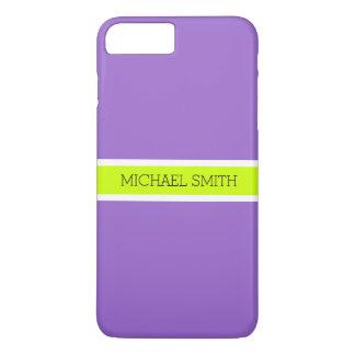 Plain Amethyst Background Modern Elegant Name Case-Mate iPhone Case