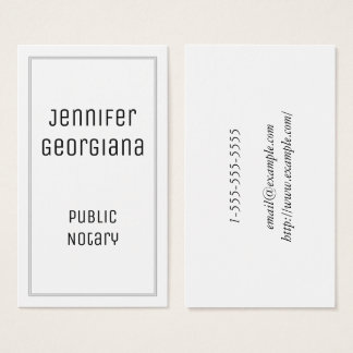 Plain and Classy Public Notary Business Card