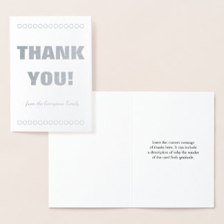 "Plain and Customizable ""THANK YOU!"" Card"