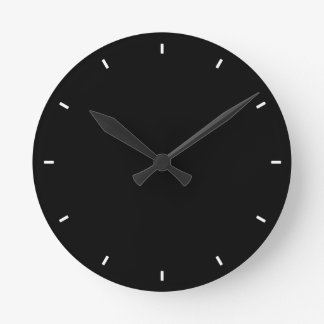 Plain and Simple All-Black Solid Black Wall Clock
