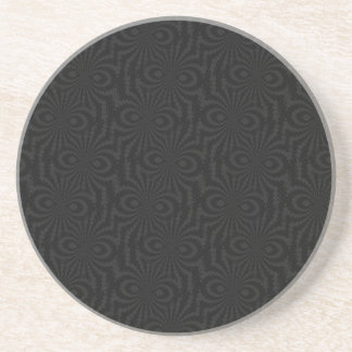 Plain and Simple Black Twisted Velvet Pattern Coaster