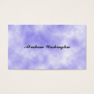 Plain and Simple Business Card - Clouds