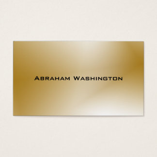 Plain and Simple Business Card  - Gold
