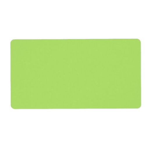 Plain apple green solid background blank personalized shipping labels