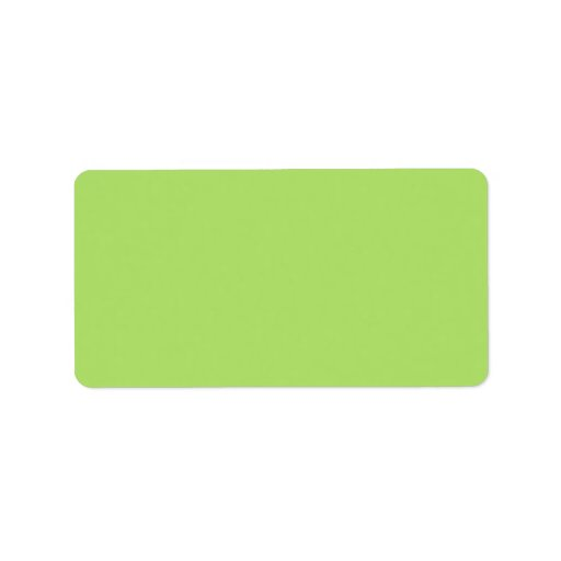 Plain apple green solid background blank address label
