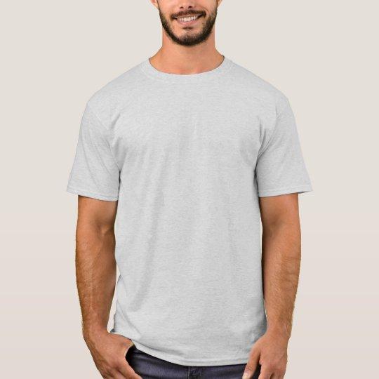 Plain Ash White Mens Basic T-shirt