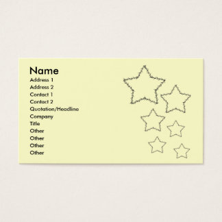 Plain barbwire star business cards
