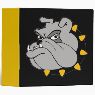 Plain Black and Gold Bulldog Binders