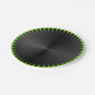 Plain Black and Green Paper Plates 7 Inch Paper Plate