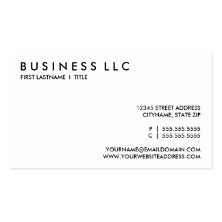 plain black and white. business card template