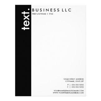plain black and white (vertical bar) letterhead
