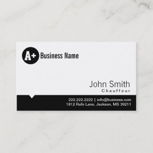 Chauffeur business cards profile cards zazzle ca plain black dot chauffeur business card colourmoves