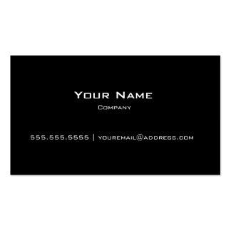 Plain Black Modern Personal Company Business Card